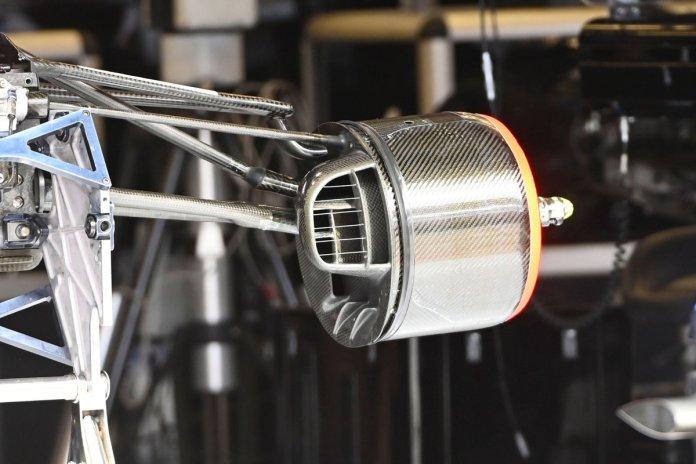 Detalhe do tambor de freio Alpine A521