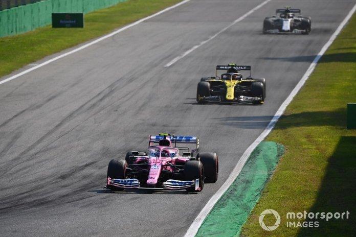 Lance Stroll, Racing Point RP20, Esteban Ocon, Renault F1 Team R.S.20, Pierre Gasly, AlphaTauri AT01