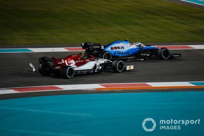 Robert Kubica, Williams FW42, Antonio Giovinazzi, Alfa Romeo Racing C38