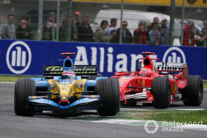 4. Alonso vs Schumacher (San Marino 2005)
