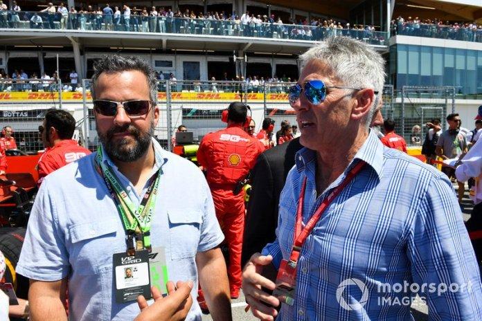 Eric Kerub, empresario y propietario del equipo, con Mick Doohan, múltiple campeón de motos de 500cc GP