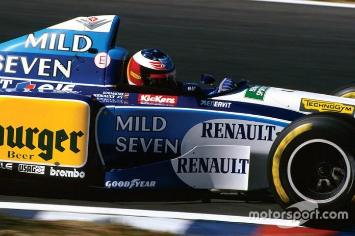 1995: el último casco de Schumacher en Benetton