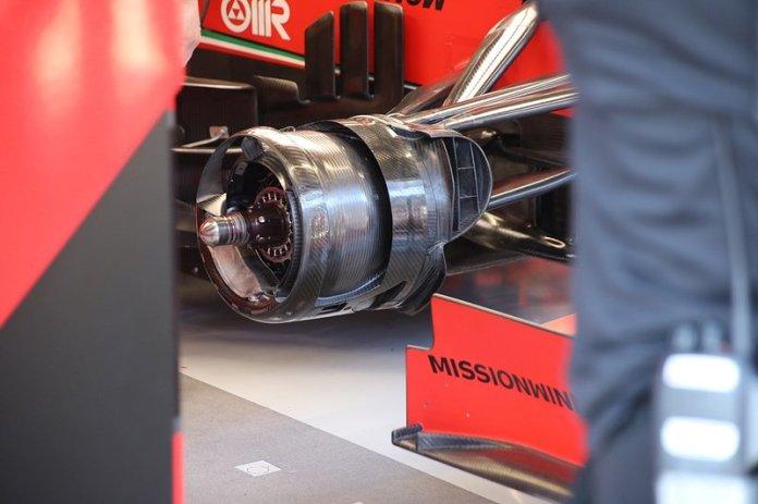 Freno delantero del Ferrari SF1000