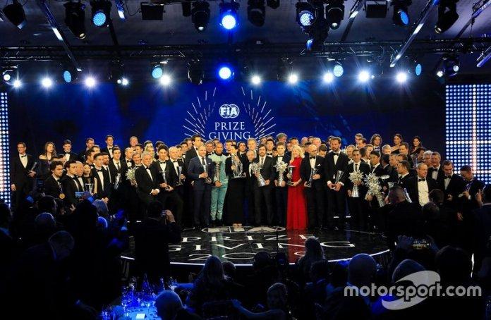 Foto de grupo de la Gala de la FIA 2019