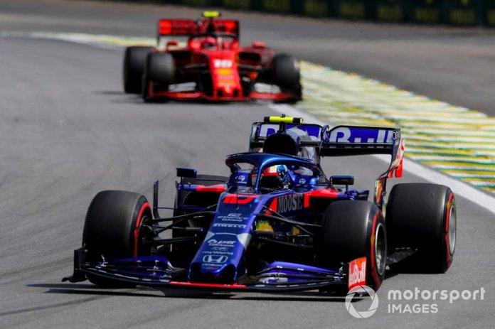 Pierre Gasly, Toro Rosso STR14, Charles Leclerc, Ferrari SF90