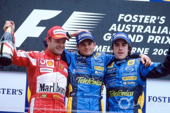 10- Fernando Alonso, 3º en el GP de Australia 2005 con Renault