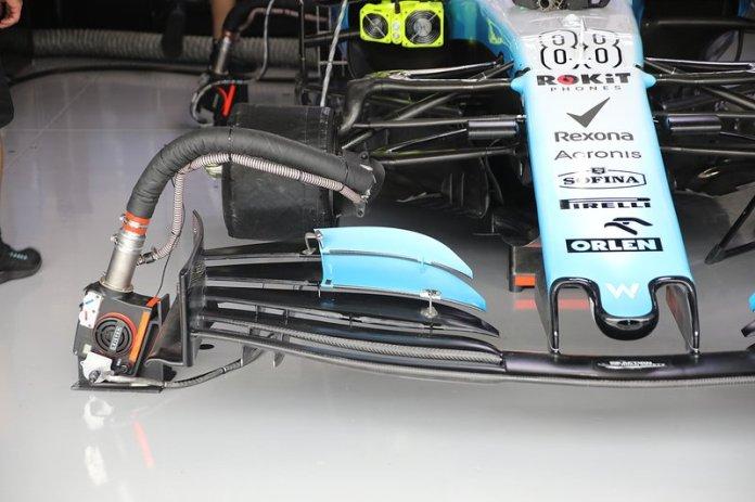 Nuevo alerón delantero del Williams Racing FW42