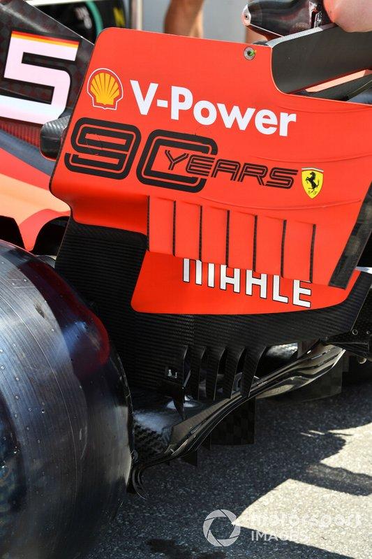 Alerón trasero en el Ferrari SF90