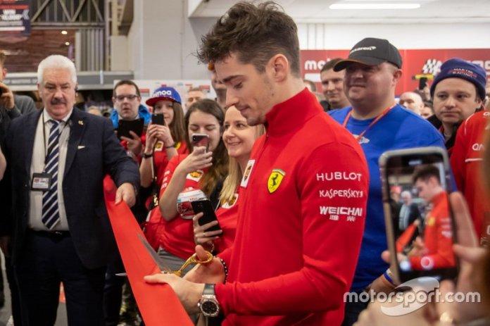 Charles Leclerc, Ferrari, abre la 4ª jornada del Salón Internacional Autosport
