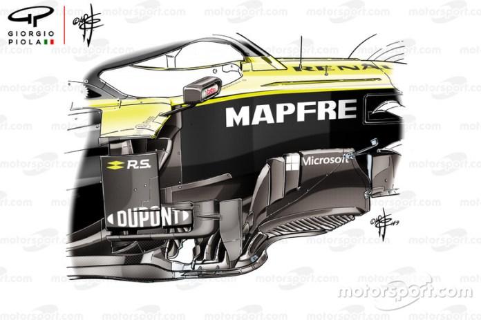 Bargeboard del Renault F1 Team R.S.19