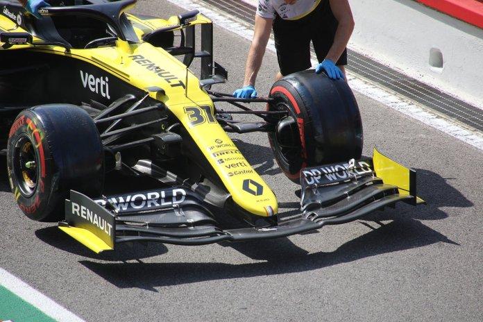 Renault R.S.20 detalle del alerón delantero