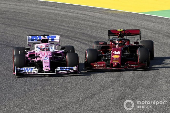 Sergio Pérez, Racing Point RP20, Charles Leclerc, Ferrari SF1000