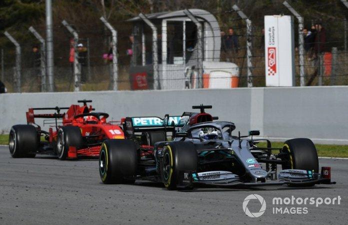 Valtteri Bottas, Mercedes F1 W11 EQ Performance, Charles Leclerc, Ferrari SF1000