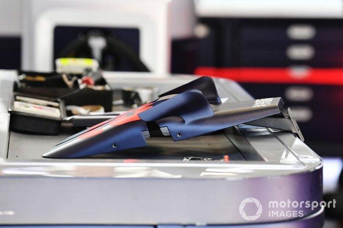Detalle de la carrocería de Red Bull Racing RB16