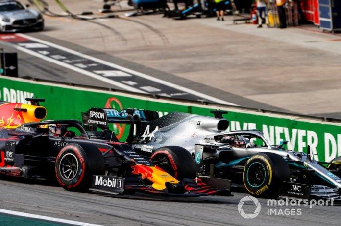 Lewis Hamilton, Mercedes AMG F1 W10, Max Verstappen, Red Bull Racing RB15, el inicio