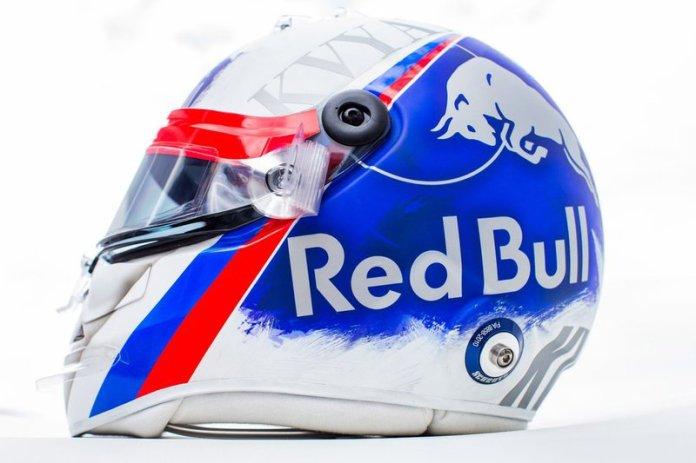 El casco de Daniil Kvyat, Toro Rosso, para el GP de Rusia (no le dejaron usarlo)