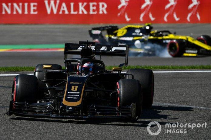 Romain Grosjean, Haas F1 Team VF-19, Nico Hulkenberg, Renault F1 Team R.S. 19