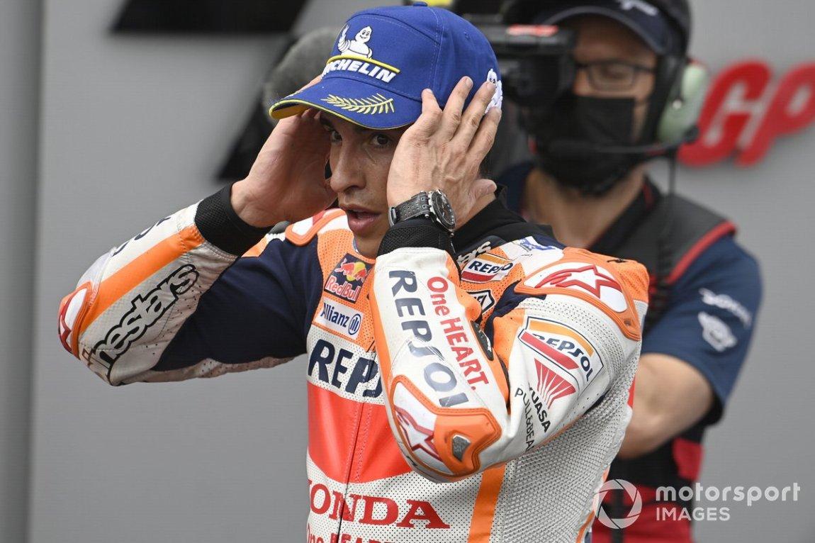 Ganador Marc Márquez, Repsol Honda Team at Parc Ferme