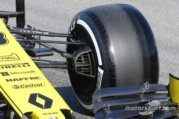 Detalle de la suspensión del Renault F1 Team R.S. 19