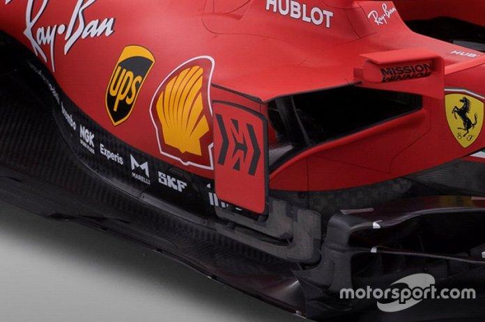 Detalle del lado del Ferrari SF1000
