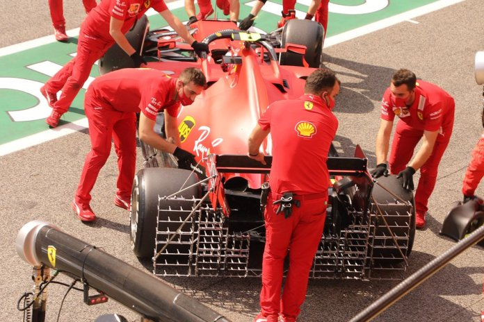 Ferrari SF1000 detalle de la parte trasera