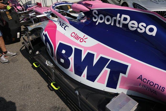 Detalle de la carrocería trasera Racing Point RP19