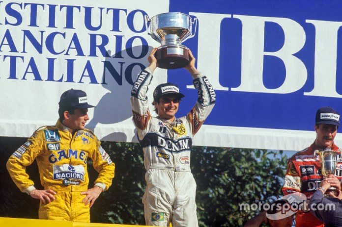 11. GP de Italia 1987: Nelson Piquet (Williams) y Ayrton Senna (Lotus)