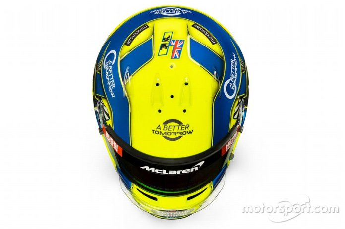 Casco de Lando Norris, McLaren