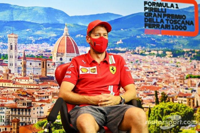 Sebastian Vettel, Ferrari en la conferencia de prensa
