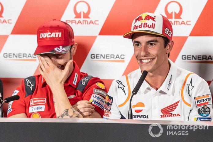 Marc Marquez, Repsol Honda Teamm Andrea Dovizioso, Ducati Team