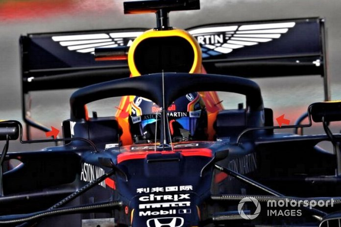 Ducto halo del Red Bull Racing RB16