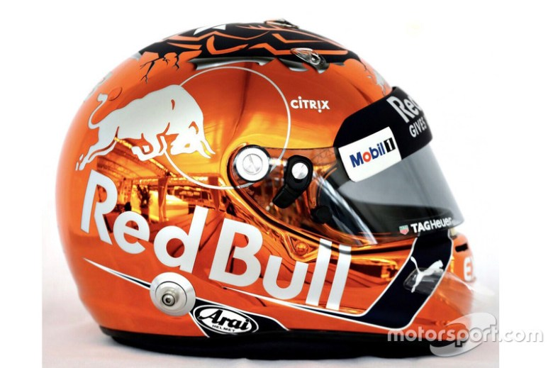 Max Verstappen, Red Bull Racing helmet at Belgian GP