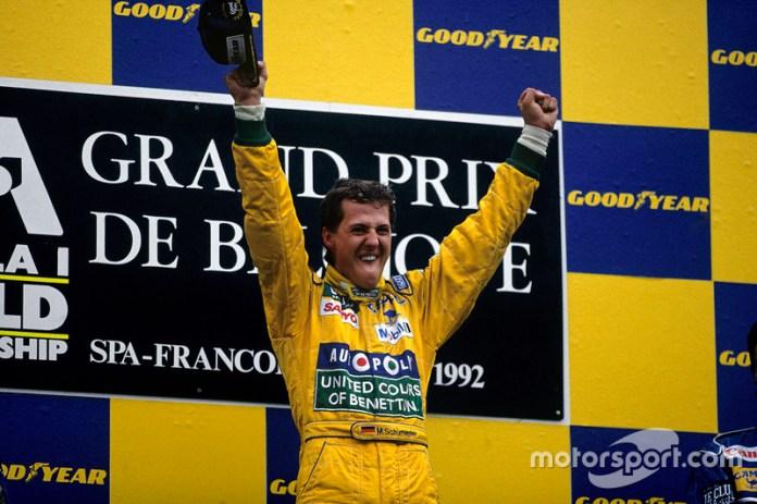10- Michael Schumacher, 23 años, 7 meses y 27 días en el GP de Bélgica 1992