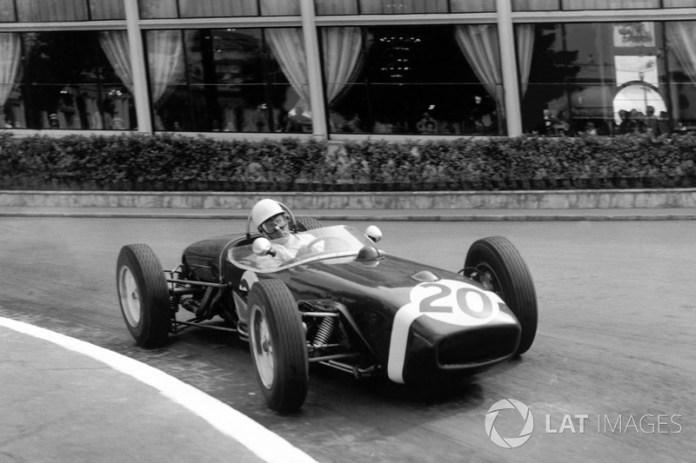 Stirling Moss, Lotus 18, GP de Mónaco de 1961