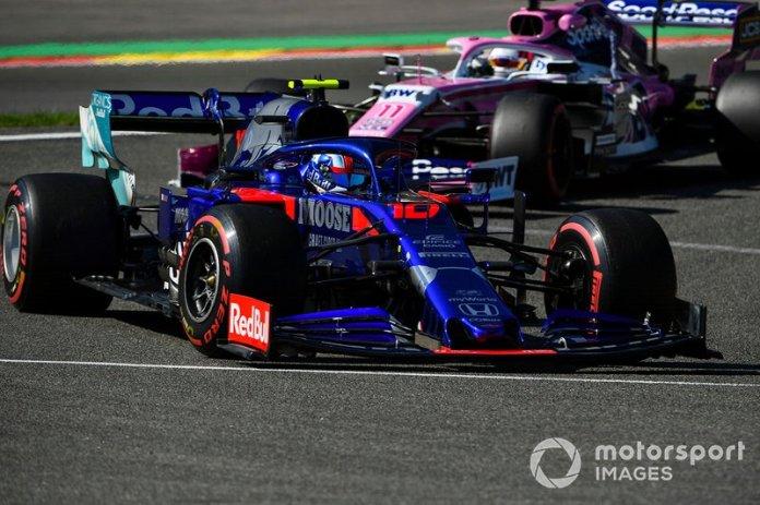 Pierre Gasly, Toro Rosso STR14, Sergio Pérez, Racing Point RP19
