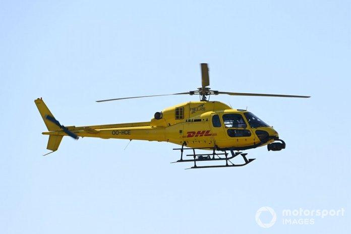 Un helicóptero Airbus AS355 Ecureuil registra la acción