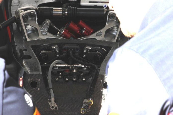 Detalle del frente del Red Bull Racing RB16