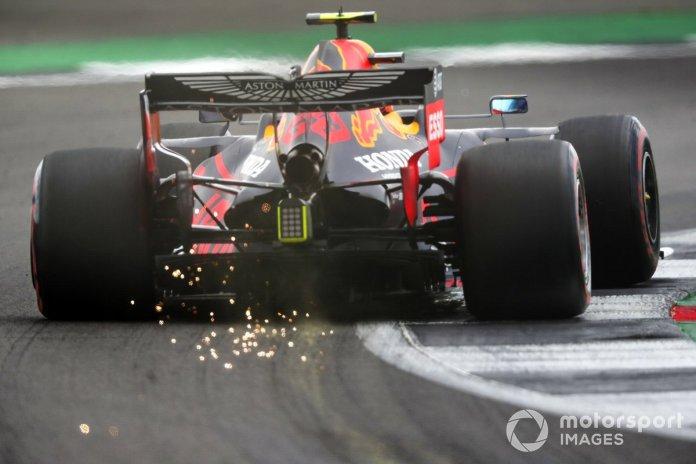 Alex Albon, Red Bull Racing RB16 saca chispas