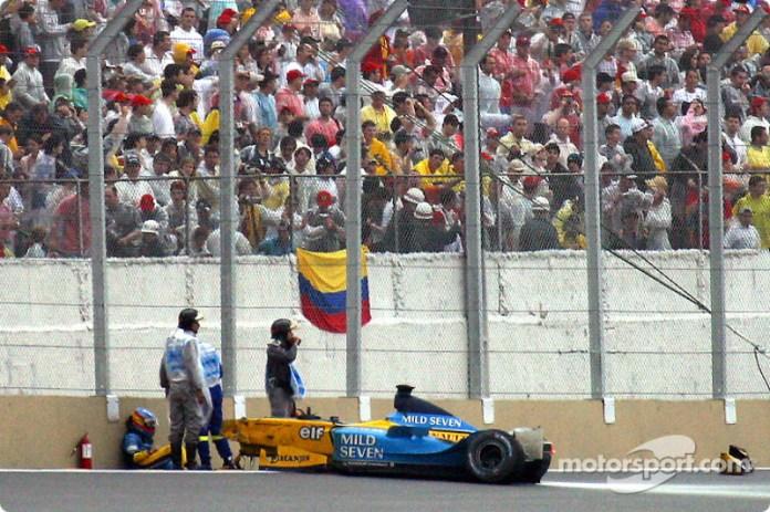 3- Fernando Alonso, 3º en el GP de Brasil 2003 con Renault*