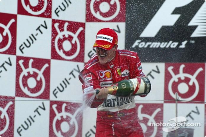 Michael Schumacher es el más exitoso del GP de Japón con seis victorias: 1995, 1997, 2000, 2001, 2002 y 2004.