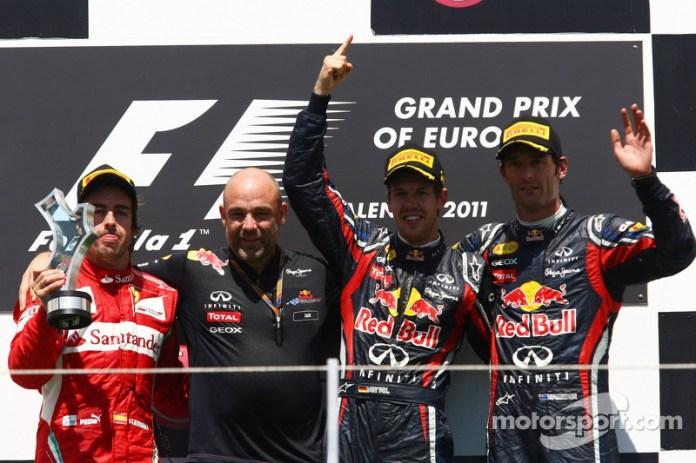 68- Fernando Alonso, 2º en el GP de Europa 2011 con Ferrari
