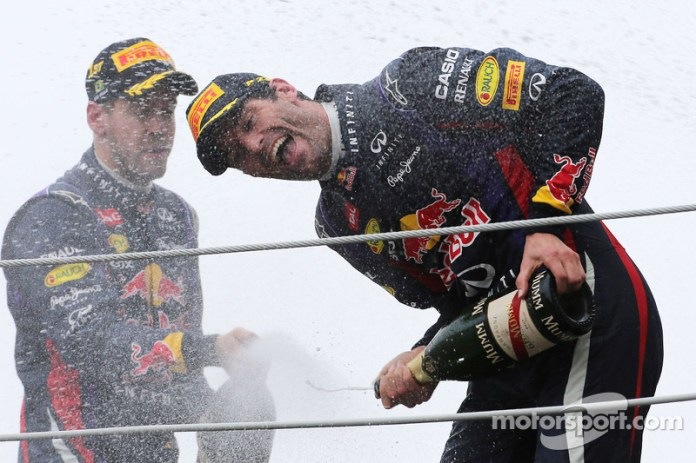 Mark Webber, Red Bull Racing y Sebastian Vettel, Red Bull Racing