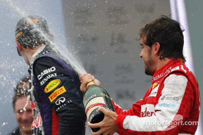 97- Fernando Alonso, 3º en el GP de Brasil 2013 con Ferrari