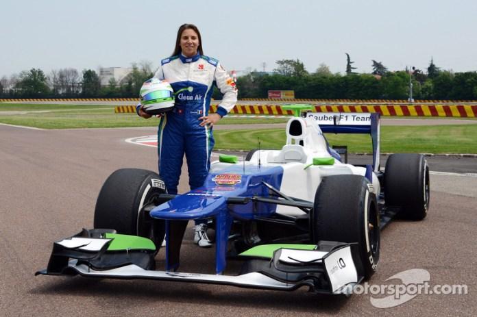 Simona de Silvestro prueba un Sauber F1, Fiorano 2014