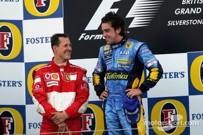 32- Fernando Alonso, 1º en el GP de Gran Bretaña 2006 con Renault