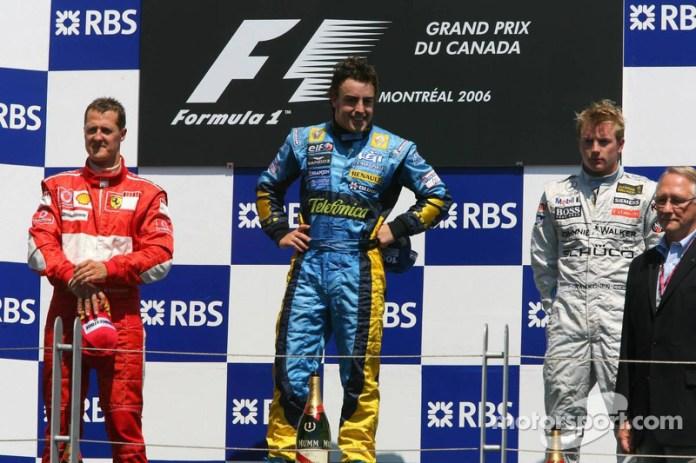 33- Fernando Alonso, 1º en el GP de Canadá 2006 con Renault