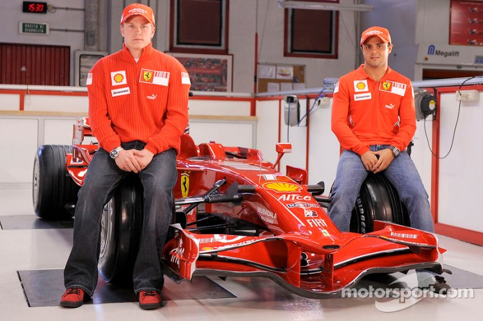 Presentación de la Ferrari F2008 de 2008