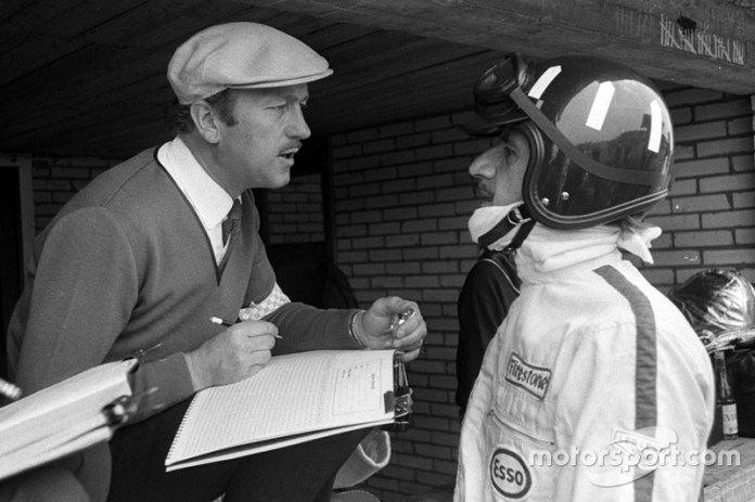 Colin Chapman y Graham Hill