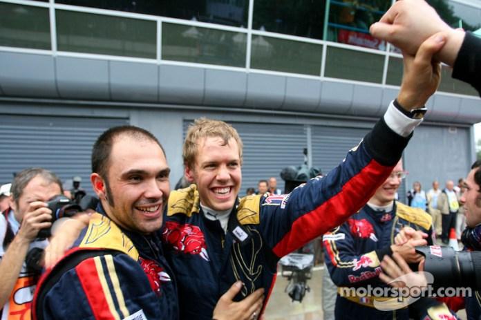2- Sebastian Vettel, 21 años, 2 meses y 11 días en el GP de Italia 2008