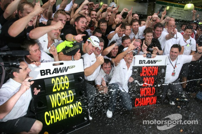 Rubens Barrichello, Brawn GP, Ross Brawn director de Brawn GP y Jenson Button, Brawn GP